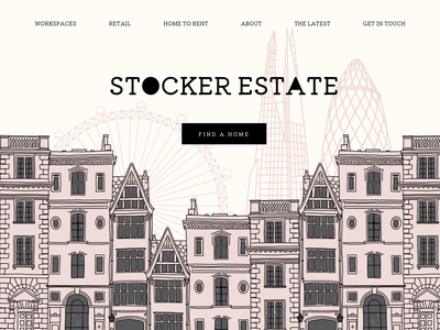 Illustrations for real estate website✨ townhouse elegance simple london street london eye buildings house houses street flat minimal web typography logo branding ui ux illustration design