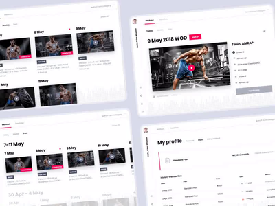 Mt Point - Light and Dark Themes interaction animation sport app sport training workout workout app fitness club fitness app fitness online app interaction design ux design animation