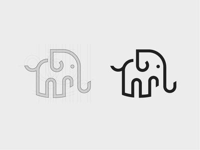 Logo - Elephant animal logo brand design branding vector design logodesign logo design elegant elephant logo logo