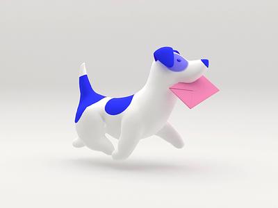 Mokky the Dog design walk render 3d illustration 3d animation 3d mail character animation character website animation animated gif doggy dog illustration gif animation