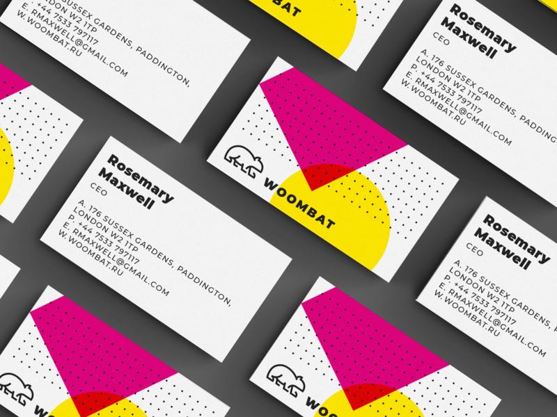 Woombat - Business Cards wombat woombat cards branding design brand design identity design branding identity print design business card design business card