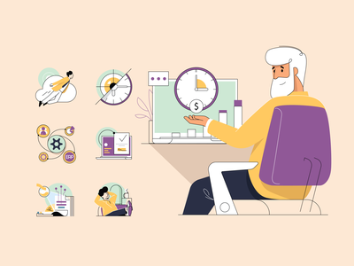 Semantik graphic design person human web design web color art fintech characters invoice template icon website vector branding illustration app design ux ui