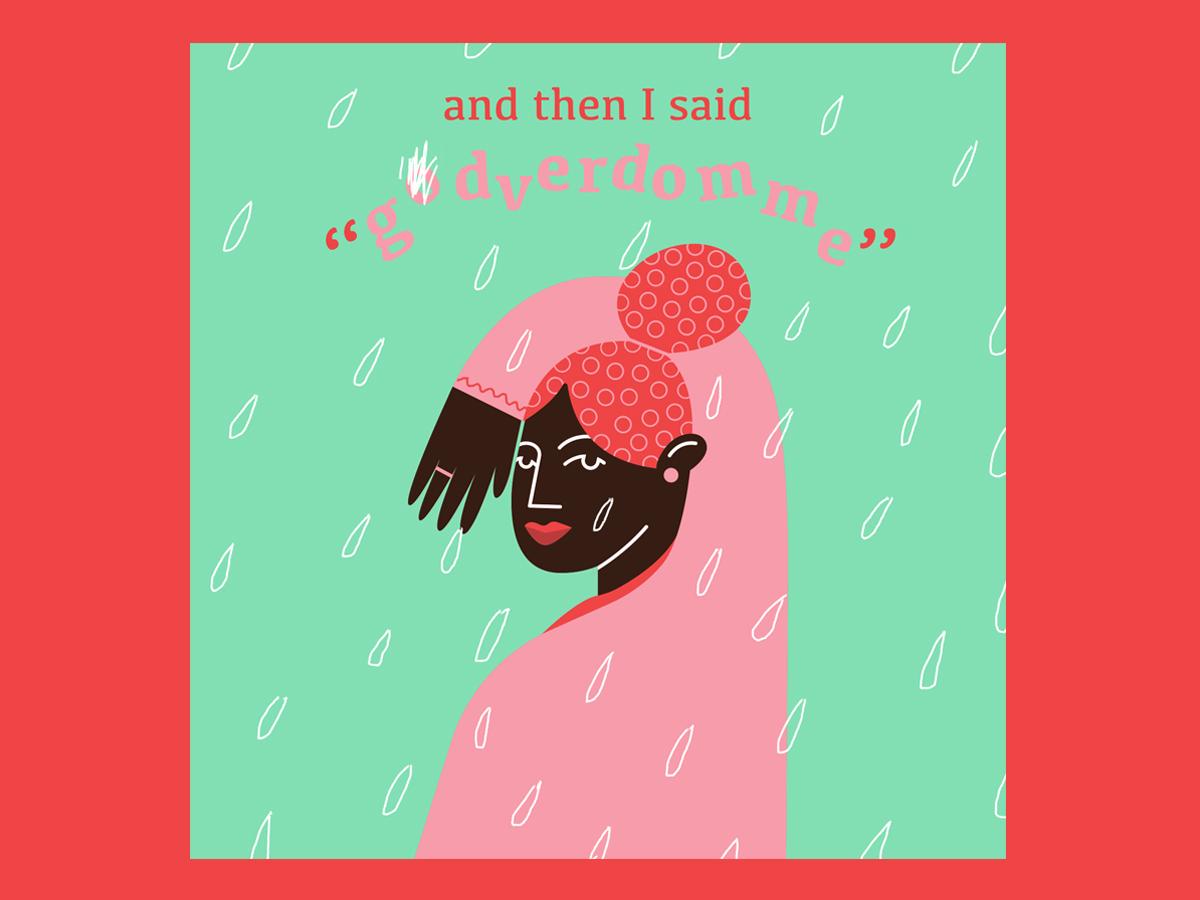 GODVERDOMME hi girl character ui pantone love dutch illustrators godverdomme nl nederland green pink graphic illustration design