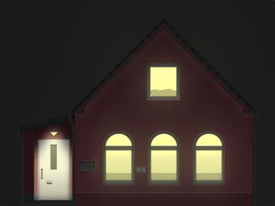 Hofhaus (at night) office night hofhaus
