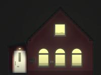 Hofhaus (at night)