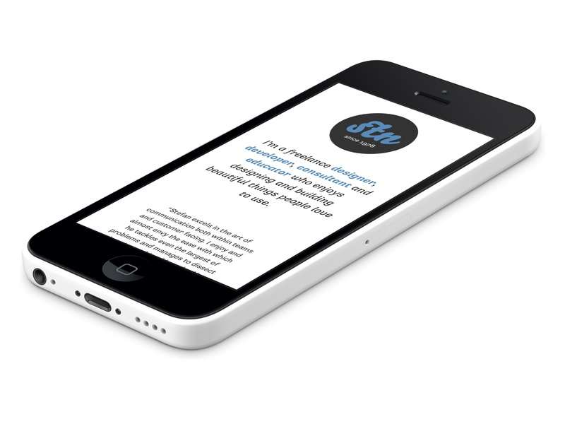 stn1978.com on white iPhone 5c supriasans white freelance website business personal iphone5c