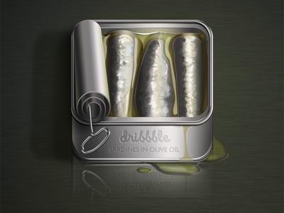 Sardines In Olive 3d icon pepuska app pepe nuñez sardine olive illustration graphic design
