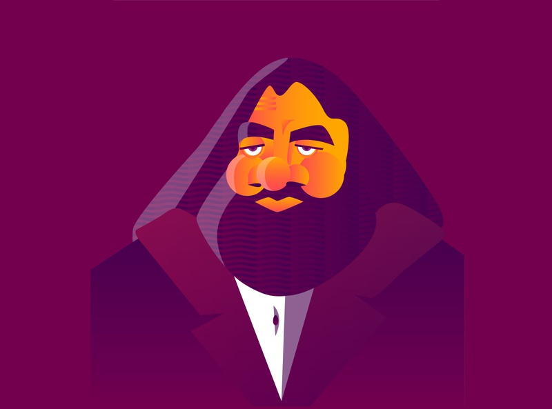 Rubeus Hagrid - 2/6 fanarts vectorillustration vectorgraphics illustrator illustration vector design graphicdesigner digitalart graphicdesign graphic art