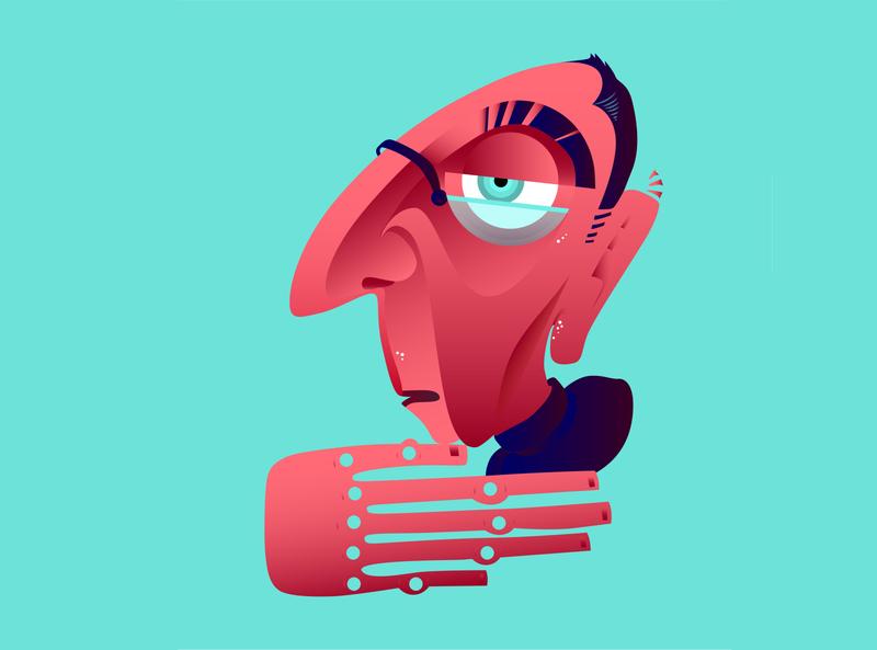 Anton Ego, from Ratatouille - 1/6 fanarts vectorillustration vectorgraphics illustrator illustration vector design graphicdesigner digitalart graphicdesign graphic art