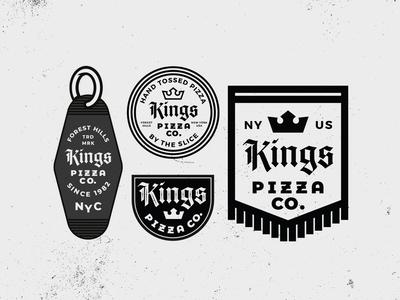 Kings Pizza Badges