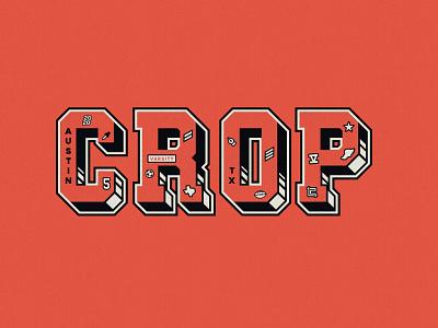 Varsity Letters CROP CON athletic sports letterman varsity crop typography design branding logo