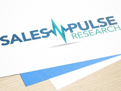 SalesPulse Research Logo Concept design branding typography finance logo technology logo gradient vector identity analytics sales flat business technology logo