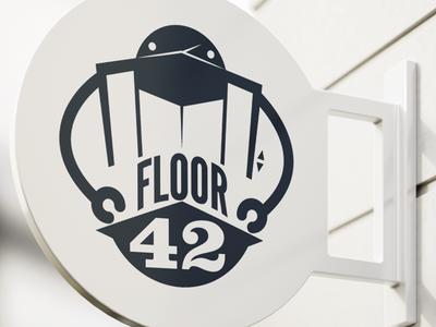 Floor42 Logo Concept elevator robot gaming technology technology logo vector identity business design illustration branding logo