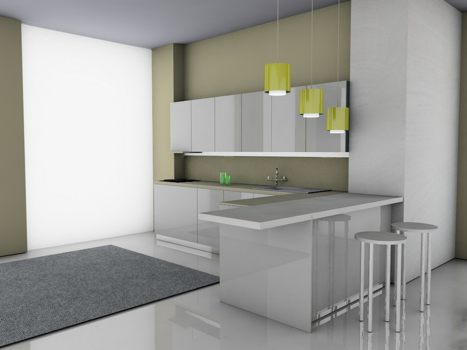 CINEMA 4D Kitchen 3D art 3d carpet cinema app interior modern apartment light digital cinema 4d lite house ketchen 3d art cinema 4d