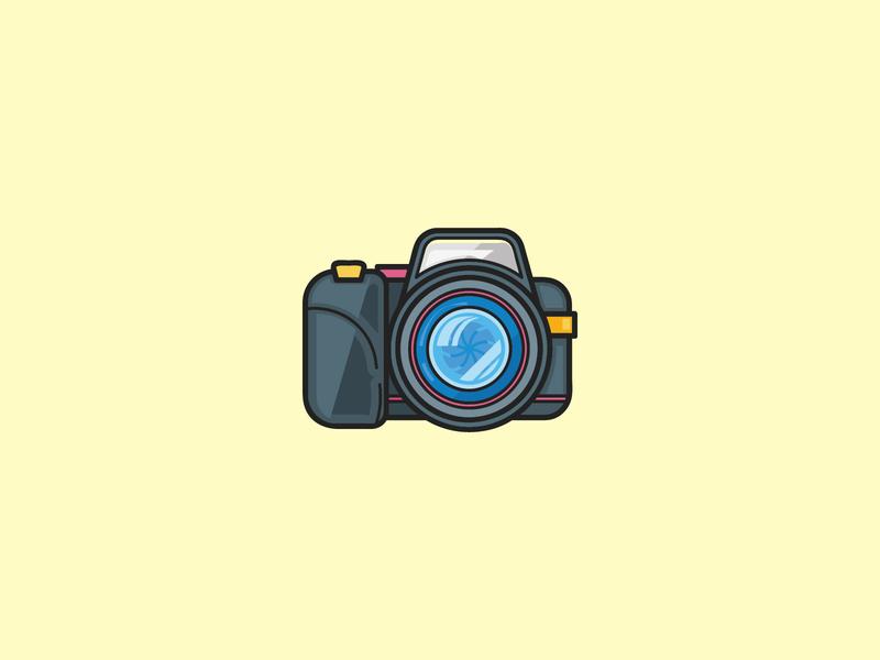 Camera camera illustration vector icon flat