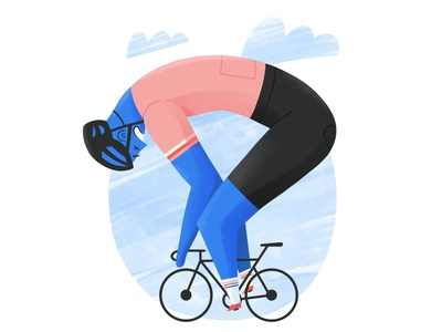 Road cyclist illustration sport 2d procreate character rider cyclist