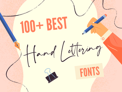 Handlettering fonts illustration bannersnack handdrawing handlettering pencil calligraphy pen fonts writing lettering drawing draw design article blogpost vector illustration 2d