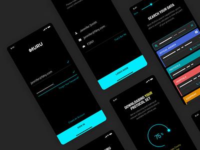 Muru Onboarding typography logo design agency ios health medical brand branding design ui ux app