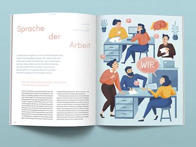 Neue Narrative newwork work magazine illustration magazine editorial illustration vector illustration flat design