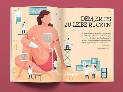 Medical Illustration magazin editorial illustration vector flat design illustration
