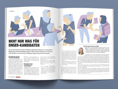 scholarship pastel colours magazin illustration vector flat design