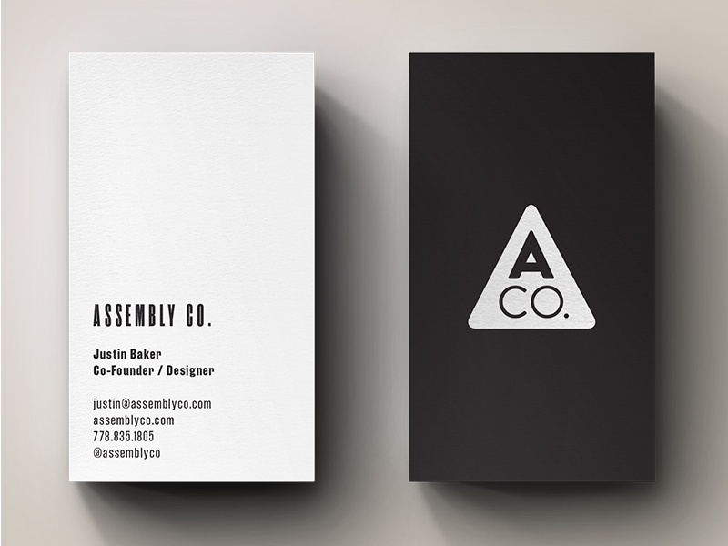 ACO BCs business cards stationery single-color minimal cards print branding
