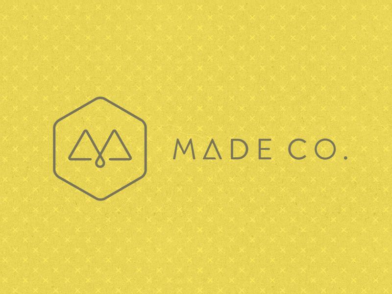 Made Co. logo identity design interior design yellow bright thin minimal branding