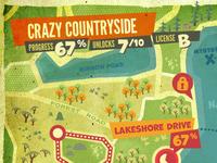 Throwback theme map