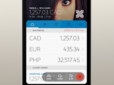 nTrust – Rejected A p2p payments app ios android light minimal ui finance