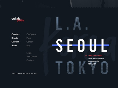 Collab super-footer exploration
