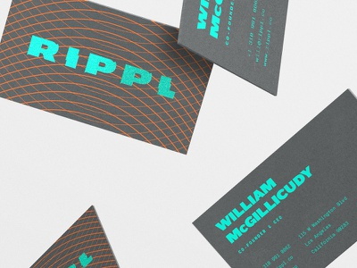 Rippl cont'd print collateral business cards logo logotype branding