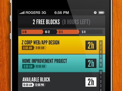 HQ (2.0) Schedule View iphone ios ui interface mobile dark hq productivity