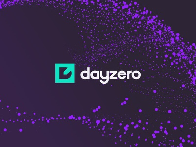DayZero - Logo cryptocurrency crypto pin purple green icon identity mark logo branding brand