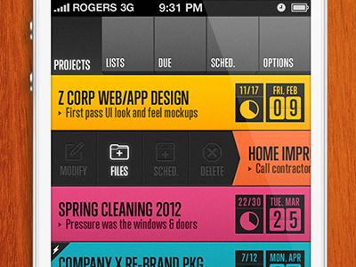 Lightbridge Projects iphone iphone app apps ui color typography contrast dark lightbridge