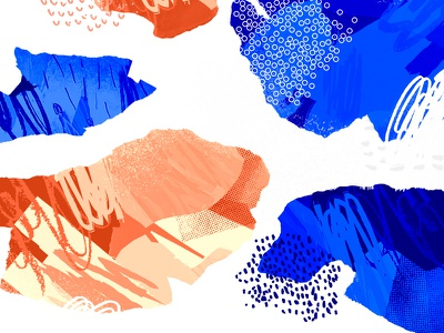 Scribble Shards... ? draw pattern shapes abstract scribble illustration grey blue orange red