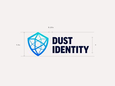 Dust v2 lockup gradient symbol mark branding logo