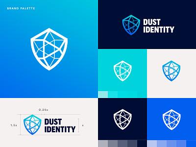 Dust v2 palette board palette gradient symbol mark branding logo