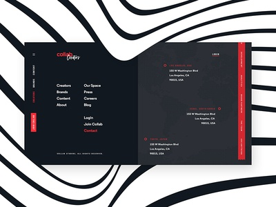 Collab Redesign - Footer footer web website navigation black blue red