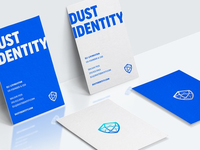 Dust ID cards branding print business cards collateral