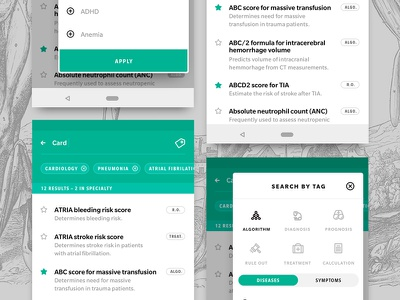 MDcalc redux B android iphone medicine medical ux ui screen app
