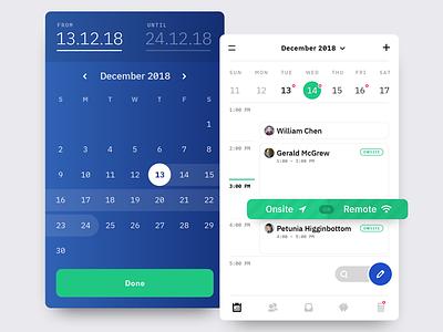 Calendar + Date Range Popover popover picker android ios schedule calendar ui mobile