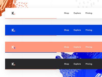 Fixed Menu - Color Exploration web navigation nav fixed menu fixed menu