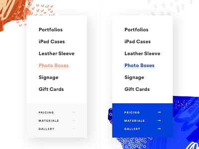 Dropdown Menu - Color Exploration web dropdown navigation nav menu
