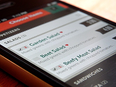 ChowNow Mobile Ordering Platform iphone iphone app apps app ui menu food restaurant mobile ios