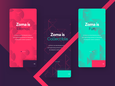 Zoma - Onboarding green red purple onboarding interface apps app ios mobile iphone ui