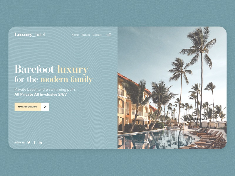 Barefoot Hotel Landing Page - Melon.studio landing design hotel booking luxury brand luxury logo hotel app hotel branding hotels luxury design luxurious luxury hotel landing page design landingpage landing page landing website design webdesign web design web website