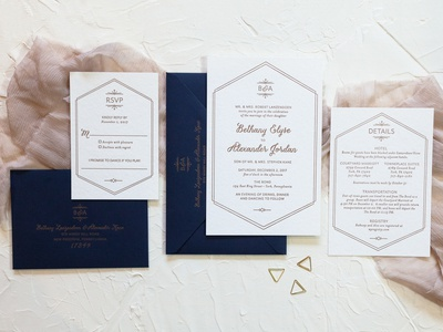 Bethany & Alex Wedding Invitations