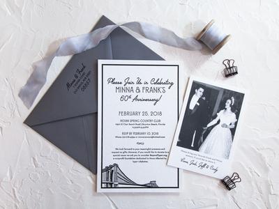 Minna & Frank Anniversary Invitation