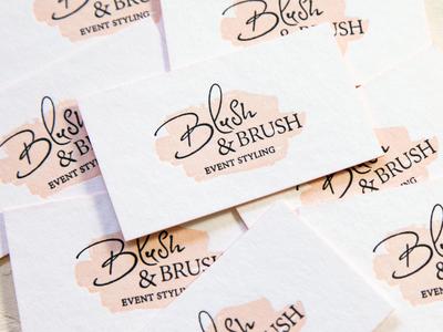 Blush & Brush Logo Design and Branding