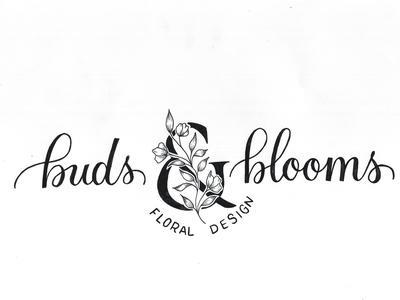 Buds & Blooms Logo Design
